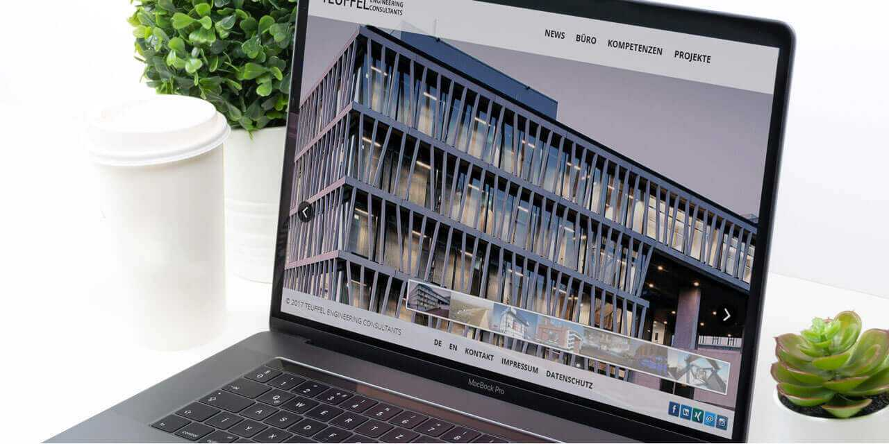 Projekt Website Teuffel Engineering Consultants